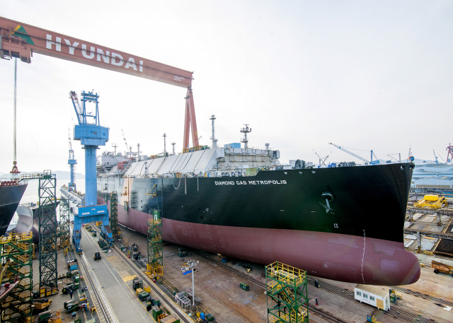 HSHI built 100 large ships through the largest on land construction system in the world