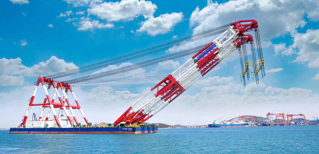 10,000 ton Heavy Lifting Vessel for HHI