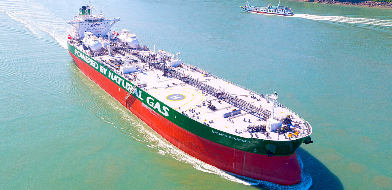 114,000 DWT COT(LNG DF)  for SOVCOMFLOT(세계 최초 LNG D/F TANKER)